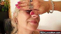 well endowed grandma penetrates a milf