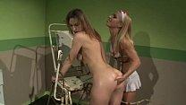Lezdom lesbian fingering her submissive