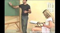 hot teacher makes this schoolgirls panties wet