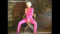 hot rubber babe spreading hard