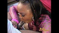 chubby ebony stripper shows off her blowjob skills on a bbc
