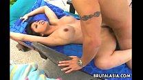 Gorgeous Japanese babe Mika Tan enjoys smutty anal sex