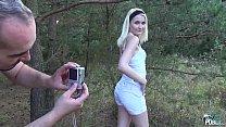 MyFirstPublic Petite Teen Blonde Hardcore sex in forest with Stepdad porn videos