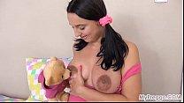 bear! teddy her with masturbates Alyssa