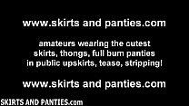 girl next door britney flashing her pretty panties