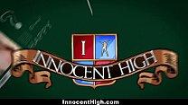 InnocentHigh - Cute Schoolgirl Gives Oral Exam