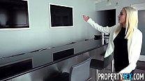 PropertySex - Sexy blonde real estate agent mixes business with pleasure porn videos
