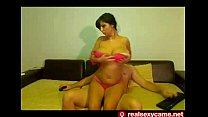 Busty slim lady sex with boyfriend | live model...