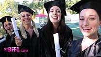 BFFS - Celebrating Graduation With Lesbian Thre...