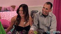 cute wife enjoys a fat dick before her husband