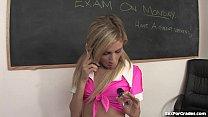 Blonde Teen Caught Masturbating In Class porn videos