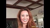 Interracial Threesome With Asian Sin-Eye thumbnail