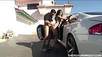 hot babe Alexa sucking and fucking her trainer ...