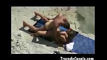 Couple make sex on a nudism beach - Amador Casal transando na praia de nudismo porn videos