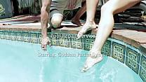 Pool Repair Service with Goddess Parker Swayze porn videos