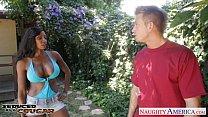 Ebony cougar Diamond Jackson fuck outdoors