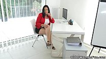 Milf secretary Ria Black takes a break from accounting porn videos