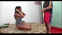 Ebony shemale enjoying rough sex