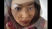 Asian with big tits solo masturbation