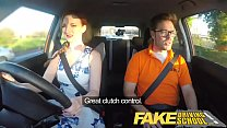 Fake Driving School Posh freaky redhead with big tits and ginger bush fucks porn videos