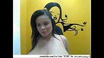 pregnant latina with a nice set of huge natural tits