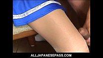 Japanese teen cheerleader sucking two cocks porn videos