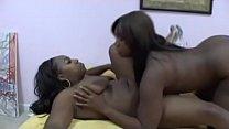 Amazing ebony MILFs in some hot in bed lesbian ...