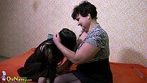 OldNanny Granny and Lesbian teen toys play