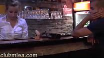 Sexy waitress fucks hard with horny customer porn videos