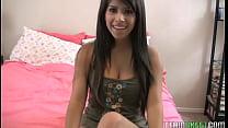 action dildo gets brunette busty Hot