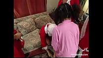 """nathalie with claus """"gangbang"""" Santa"""