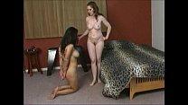 asian slave lesbian on leash worships white ass