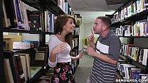 pounding a hot teen brunette joseline kelly in the library