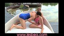 Lesbea Deep fingers stretch tight teen pussy open to reach G-spot porn videos