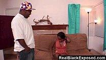 RealBlackExposed - She Spreads Wide For Shorty's Monster Dick thumbnail