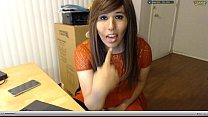 College tranny dirty talk on webcam