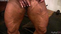 Female Bodybuilder Lisa Cross Plays with her Fu... thumb