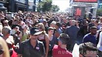 Nude in San Francisco does the Folsom Street Fa...