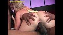 Blonde Loving Two Big Black Cocks