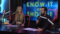 Babes get naked during a questioning game on a morning show porn videos
