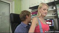 Porn-loving girl cheats on her man