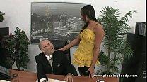 Young Slutty Secretary Fucks Old Boss