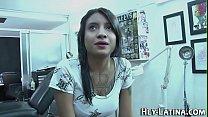 Busty inked latina slam
