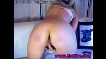 Gorgeous sweet blonde teen flashing panties ups...