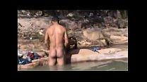 Flagrante na praia sexo ao ar livre caiu na net