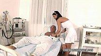 Slutty nurse Black Angelika fucks in the hospit...