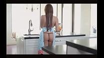 do... tesao o desperta cozinha na deliciosa Esposa