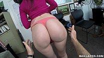 shy woman has massive butt