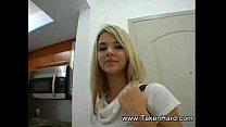 Fuck a cute busty blond teen!