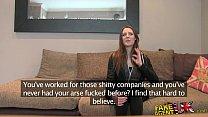 FakeAgentUK Posh young British girl gets anal creampie casting porn videos
